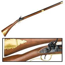 Authentic Replica Colonial Kentucky Flintlock Rifle Short Version Non Firing Gun
