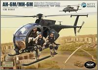 KH50002 1/35 Kitty Hawk AH-6M/MH-6M Night Talker Model Kit / With Resin Figures