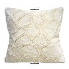 CREAM GIRAFFE Sherpa Faux Fur Luxury Home Decor Accent Pillow 18 in x 18 in