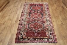 OLD WOOL HAND MADE ORIENTAL FLORAL RUNNER AREA RUG CARPET 236 X 113CM