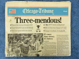 Vintage 1993 Chicago Tribune Bulls Michael Jordan NBA Basketball Champions