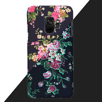 2018Matte Floral Flower Hard Back Phone Case Slim Cover For Samsung Galaxy S8 S9