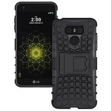 Hibrido Funda 2 piezas exterior negro para LG G6 H870 Nueva Protección
