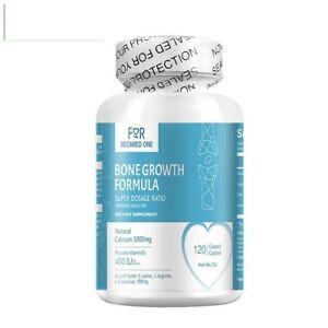 FBO Bone Growth Formula 400IU 25mg 120 Caplets Super Dosage Ratio