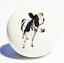 COW HOME DECOR CERAMIC KNOB DRAWER CABINET PULL