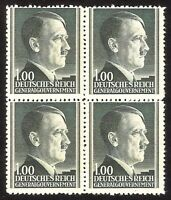 DR Nazi 3d Reich Rare WW2 Stamp Hitler Head Nazi Service in Occupation Poland GG