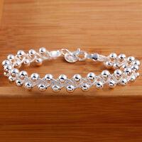 EG _ HK- Damen süß versilbert Mode Perlen Party Kettenarmband Schmuck Li