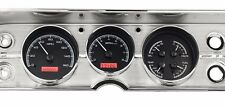 1964 to 1965 Chevelle SS Dakota Digital Black Alloy & Red VHX Analog Gauge Kit