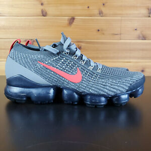 Nike Air Vapormax Flyknit 3 Grey Track Red CT1270-001 Men's Size Shoes