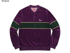 Supreme Velour Snap Henley 100% Authentic Brand New Purple