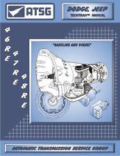 46re 47re 48re ATSG Rebuild Manual A518 A618 Transmission Service Overhaul Dodge