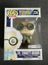 Funko Pop! Movies Back To The Future Dr. Emmett Brown #236 Loot Crate Exclusive