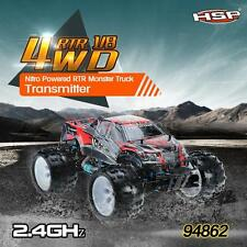 HSP 94862 SAVAGERY 1/8 4WD Nitro Monster Truck with 2.4Ghz Transmitter NEW Q8E3
