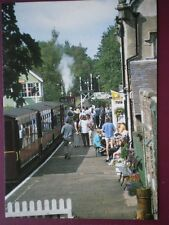 POSTCARD ALSTON RAILWAY STATION AT DEPARTURE TIME