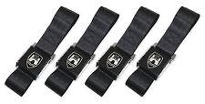 New Vintage Volkswagen Wolfsburg Black 2-Point Seat Belts Made in USA - Set of 4