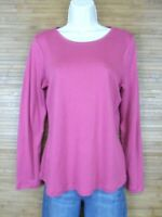 Charter Club Pink 100% Pima Cotton Long Sleeve Shirt Womens Size Medium M EUC