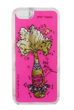 BETSEY JOHNSON $48 NWT BUBBLY Glittery Champagne Glass Cell Case  iPHONE 6 /6S/7