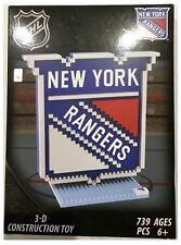 New York Rangers NHL Hockey sur glace Logo 3D brxlz Briques Construction Set Puzzle