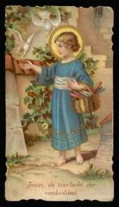 CHILD JESUS Old 1926 SMALL w/ GOLD HOLY CARD
