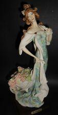 1987 'Mint in Box' Giuseppe Armani Retired Girl With Flower cart 0960 C Figurine