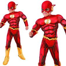 Rubies Fancy Dress Costume Co. Inc Boys DC Comics Deluxe Child Flash Medium
