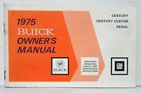1975 Buick Century Custom Regal Owners Operators Manual Original