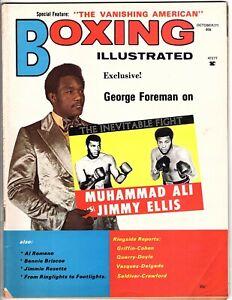 BOXING ILLUSTRATED MAGAZINE GEORGE FOREMAN-MUHAMMAD ALI-JIMMY ELLIS OCTOBER 1971