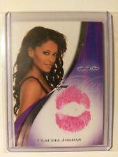2008 Benchwarmer Signature Series Claudia Jordan Kiss Card
