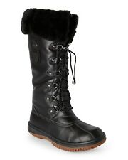 NEW ATELIER NOIR BY RUDSAK SZ 6  LEATHER COLD WEATHER BOOTS THINSULATE FUR LINED