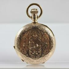 1902 ELGIN GOLD FILLED HOUSE & MOUNTAIN HUNTERS CASE POCKET WATCH FOR REPAIR