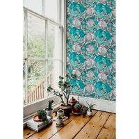 Removable wallpaper Flowers Doodle style Sketch Elegant Blue and white