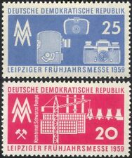 Germany 1959 Leipzig Fair/Cameras/Crane/Factory/Industry/Business 2v set n44579