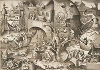 Framed Print - 7 Deadly Sins ENVY by Pieter Bruegel the Elder 1558 (Picture)