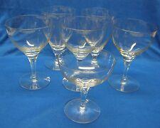 6 Fostoria Crystal Puritan Glasses 3 Water Goblets 2 Ice Tea 1 Champagne/Sherbet