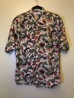 Vintage Retro Printed Cotton Shirt Mens Large