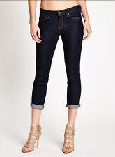 NWT GUESS Medium rise Crop Skinny Jeans Silicone wash Dark blue XXS sz 23