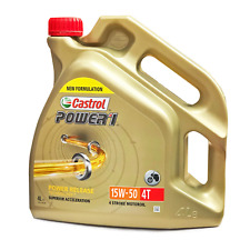 Castrol Power1 4T 15W-50 4 Litres Motorcycle 4 Stroke Engine Oil for Honda Bikes