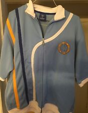 Bad Boy Men's Sz XL ZIP FRONT TRACK JACKET Blue With Strips Athletic Coat