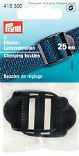 2 Klemm-Leiterschnallen Stegbreite 25 mm Prym 416390 Schnalle Steckschnalle