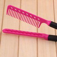 Hair Straightener Brush Straightening V Styling Comb Hairdressing Salon Folding