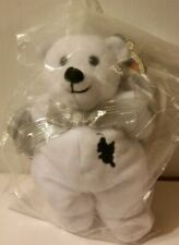 """Planet Plush Ltd. Ed.-Numbered-ANGEL THE LOS ANGELES Bear 9""""-SILVER wings NEW"""