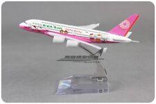 Solid EVA AIR Hello Kitty A380 Passenger Plane Airplane Metal Diecast Model