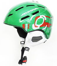 Alpina Chief Ten 10 Ski Helmet Snowboard Green/Orange Winter Sport