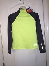 NWT $50 Under Armour Infrared ColdGear Long Sleeve Mock Neck Top Youth Girl's