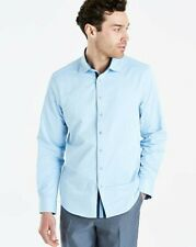 Jacamo - Blue L/S Stretch Pintuck Shirt Long Uk 4XL Brand New