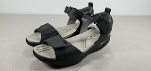 MBT 400272-58 Womens US 9-9.5 EU 40 Black Leather Rocker Walking Sandals