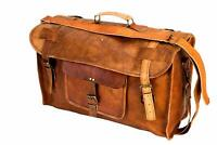 Genuine Leather Huge Capacity Duffle Bag Men Overnight Carry Travel Luggage Gym