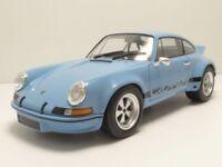 SOLIDO 1:18 AUTO DIE CAST PORSCHE 911 2.8 RSR CARRERA 1974  BLUE CIVIL S1801101