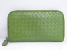 BOTTEGA VENETA Long Zippy Wallet Intrecciato Leather Green Italy 16170146800 G
