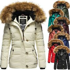 Navahoo Damen Winter Jacke Steppjacke Parka Teddyfell Warm Kunstpelz Kapuze Zoja